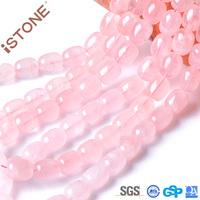 iSTONE 12x15MM Natural Rose Quartz Hand Cut Square Faceted Puffed Beads 16 inch Pick Size Strand For Jewelry Making