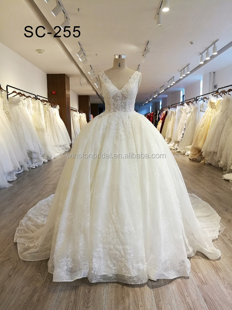 100% Polyester Material and Bride Use Alibaba Wedding Dress