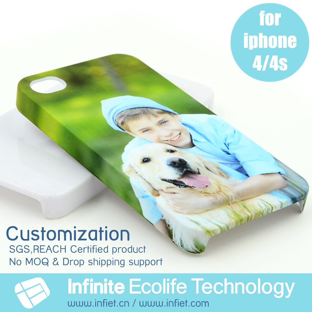Custom Printed Cartoon Design Mass Production 3D Image Plastic Back Cover for Apple iPhone 4 Mobile Phone for iPhone 4s Cases