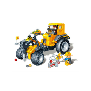 bd-0788537 plastic toys brick educational toys brick road drilling machine 262pcs