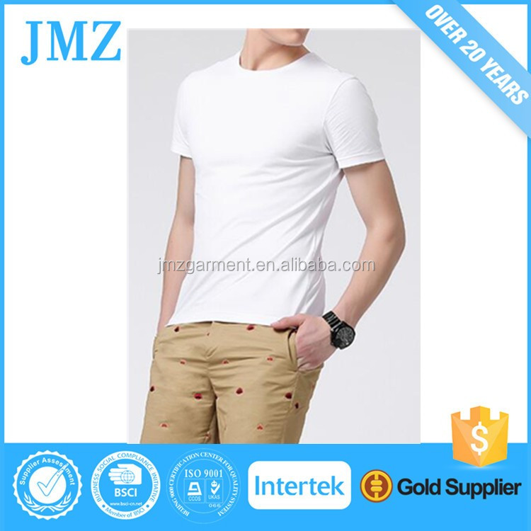 100% cotton mens blank t shirt wholesale short sleeve plain white tee shirt