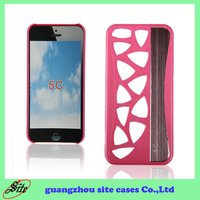 China manufacturer Luxury Wallet Leather Case Cover for Iphone 5C
