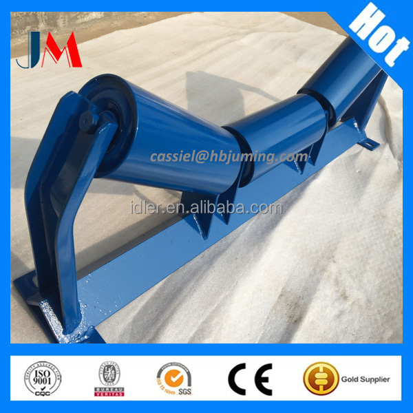 CEMA 5 inch troughing cylinder steel conveyor idler rollers factory