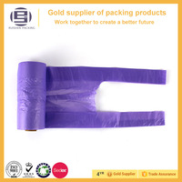 Wholesale convenient rolling bag purple garbage bag