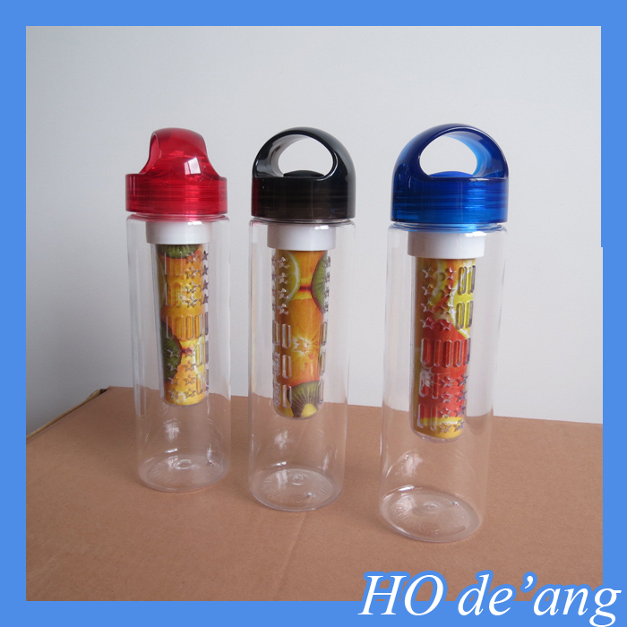 HOGIFT New 750ml Fruit Infuser Water Bottle Infusion BPA Free Detox Drink plastic pc Juice Bottle