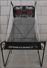 "1"" Steel Tube Portable Basketball Stand For Game w/ Backboard and Net"