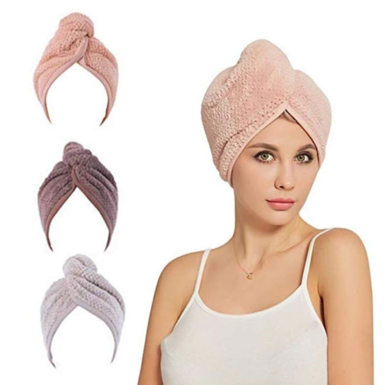 Custom Personalized SPA Women''s Super Absorbent Quick Dry Soft Magic Turban <strong>Towel</strong> With Buttons Twist Wrap Microfiber Hair <strong>Towel</strong>
