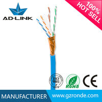 Guangzhou factory bare copper network cable 305m per roll lan cable stp cat 6 cable 100 pair