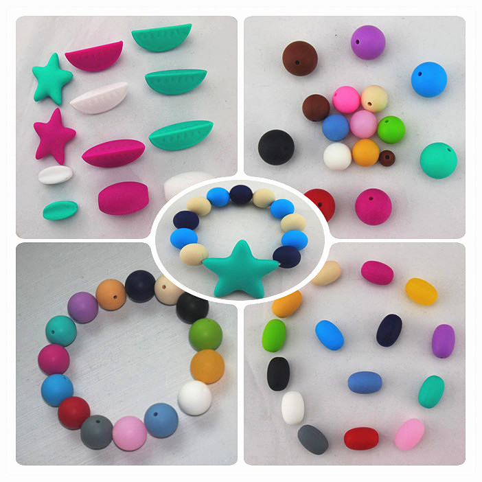 Jewelry Component/China Kean Silicone Wholesale Silicone Loose Beads for Baby Teething