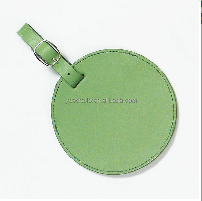 Microfiber Clava Personalized Colorful Circle Luggage Tag