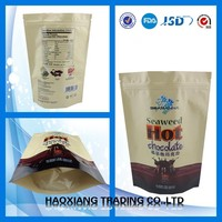 New product high quality aluminum foil plastic bag for seaweed hot chocolate packing