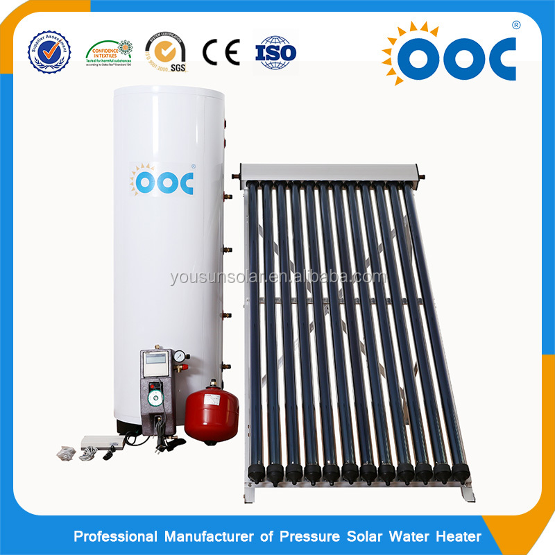 Quality And Quantity Assured China Competitive Split Pressurize 300L Electric Heating Element Non Pressure Solar Water Heater