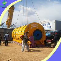 Indirect Heating Recycle Rubber Tire Machine To Oil Used In Big Factories