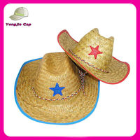 Cheap Raffia Paint design your own customize Straw Cowboy Hats manufacturer