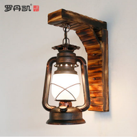 Vintage furniture hotel room decoration artistic wall oil lamps
