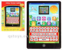 bettery operated English ipad for kids educational learning machine QS120323800