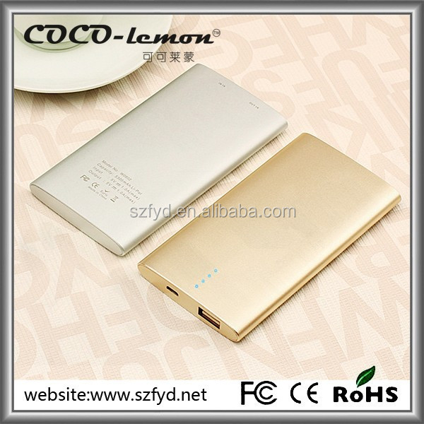 Shenzhen Factory Mobile Portable Power Pack 5000mah
