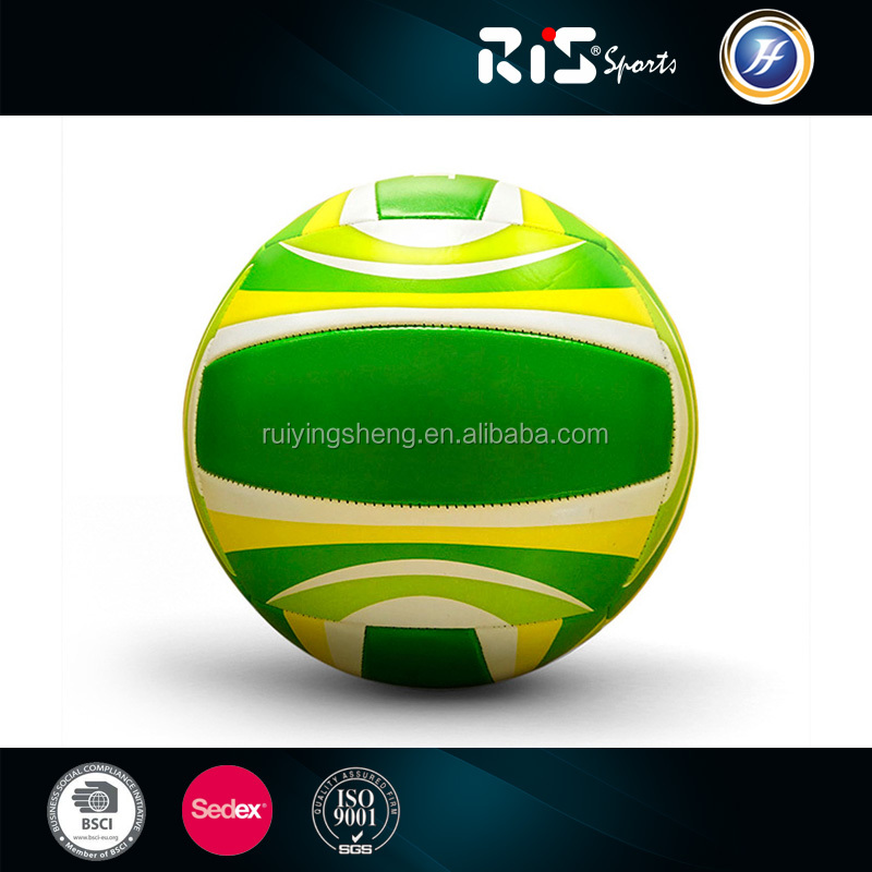 High quality beach ball logo customized PVC Volleyball in size 5