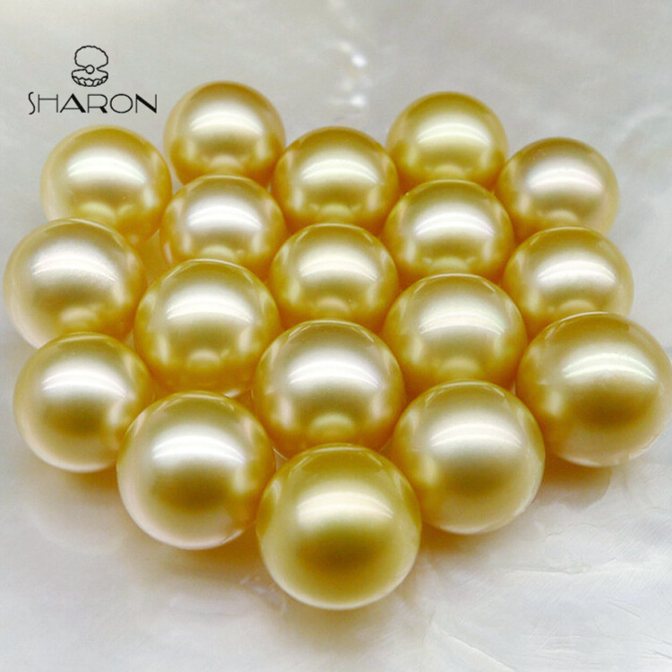 11-12mm AAA Natural Seawater Golden South Sea Loose Pearls