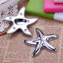 Fish shape metal bottle opener with keychain