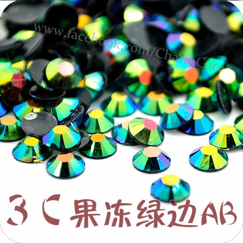 Factory Supply 3mm Non hotfix Resin Rhinestone For Jelly Color 3D Nail Art Decoration Beauty