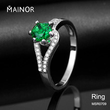 Cheap Ring Gemstones Green Rings Emerald Jewelry Ring