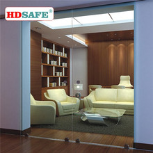 China manufacture sliding interior glass door stainless steel accessories