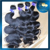 Machine made strong weft full cuticle high quality cutting 5A raw body wave brazilian virgin human hair