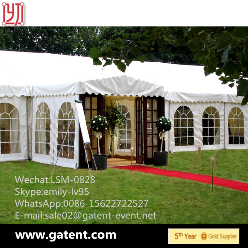 European Style Strong Snow Loading Mixed Marquee Tent With Pagoda Gate