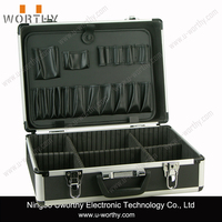 Professional Hairstylist Lockable New Aluminum Barber Tool Cosmetic Case