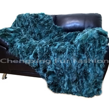 CX-D-87 100% New Zealand Real Fox Fur Handmade House Carpets and Rugs