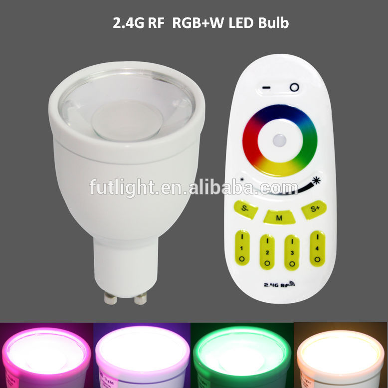 NEW Arrival 2.4G Wireless Dimmable E27 GU10 4W Mi Light Bulb 85-265V 110V 220V RGBCW / RGBWW Led Lamp Smart Led Light