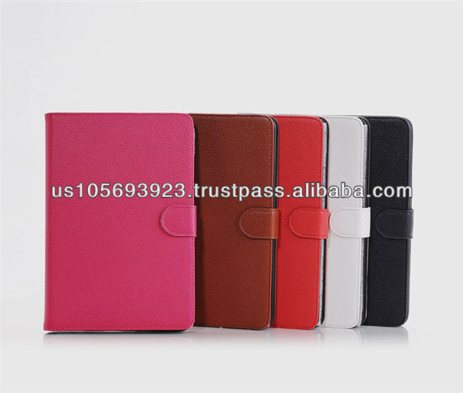 Lichee Pattern PU leather smart cover case for Mini Ipad