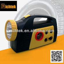 Led light merchanical gauge auto/car/electric air compressor,tire inflator for emergency using(RCP-C25B)