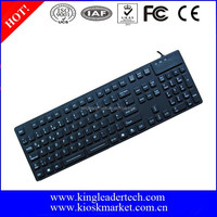 Silicone rubber computer keyboards with function keys
