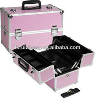 Pink checkered pattern professional cosmetic case in beauty and personal care RZ-C351