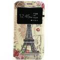 Flip cover PaintingPU leather phone case for Samsung galaxy E7, with TPU soft back cover