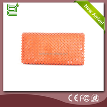 2016 best design for aluminum fashion pink soft shell evening clutch