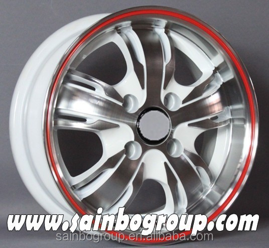 Alloy wheel rims for car, white wheel rims for sale, car rims made in china