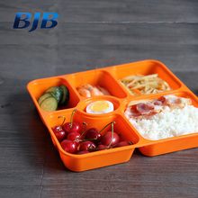 food grade plastic pp container 5 compartment disposable bento lunch box