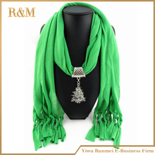 hot sale pendant scarf with christmas ornament