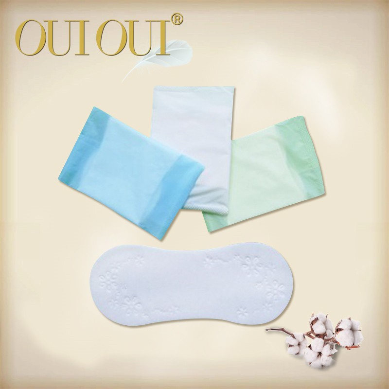 OEM Ladies anion green chip butterfly panty liners