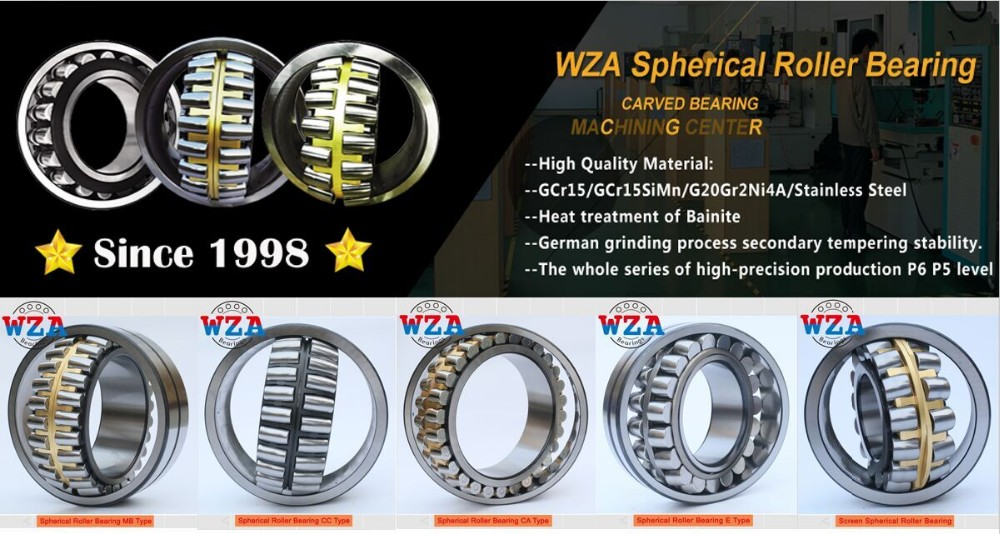 China manufacturer WZA Spherical Roller Bearing 22208 MB/W33