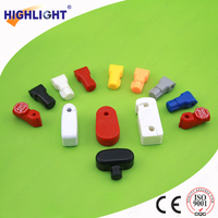 Highlight SL003 white 6mm retail display security EAS top security lock/ retail display lock/ anti theft magnetic peg hook lock