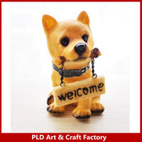 Wacky wobbler custom animal antique dog statues dashboard bobblehead for car