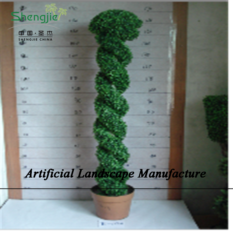 SJZJN 2008 Evergreen Artificial Plant Mini Grass Made Topiary Tree High QUality