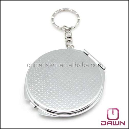 Newest wholesale keychain pocket mirror with logo CD-MG092