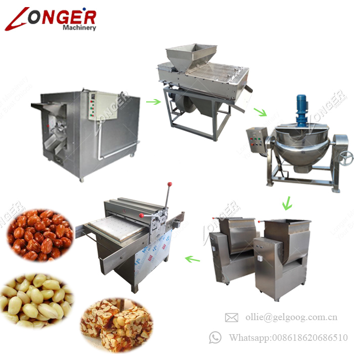 Hot Sale Factory Supply Nuts Cereal Protein Bar Maker Granola Snack Bar Peanut Candy Making Machine