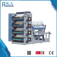 RUIDA Sophisticated Technology Automatic 4 Color Paper Cup Flexo Printing Press Machine