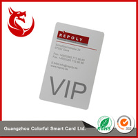 Standard size succinct white membership credit vip card